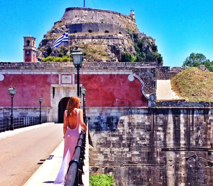 "The amazing ""Delfini"" dress spotted in Corfu!!!"