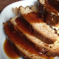 Rezept: Lummerbraten mit Honig-Knoblauch-Sauce aus dem Slowcooker