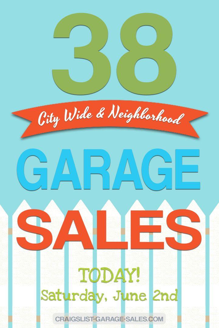 City Wide Neighborhood Garage Sales June 2 Neighborhood Garage Sale Garage Sales Community Garage Sale