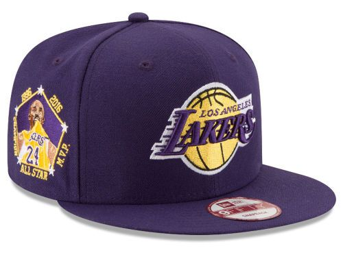 Los Angeles Lakers New Era Kobe Bryant Retirement 9FIFTY Snapback Collection Hats