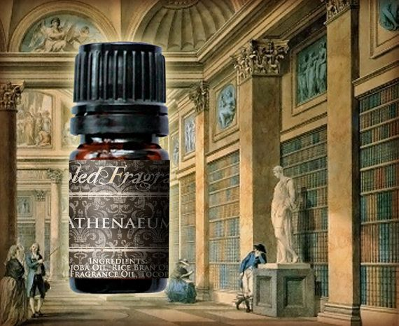 ATHENAEUM Perfume Oil: Old Library Inspired by FabledFragrances. Old Library Inspired, Book Paper, Leather Binding, Amazon Teakwood
