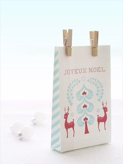 Free printable holiday gift bag