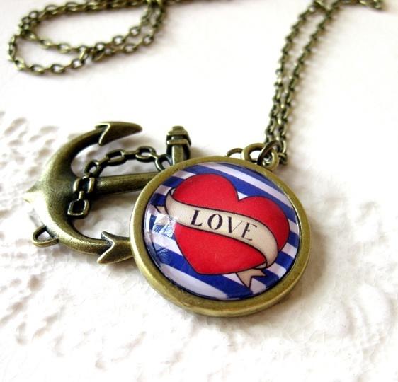 Anchored in Love pendant.  Pretty Birds Creations - Home