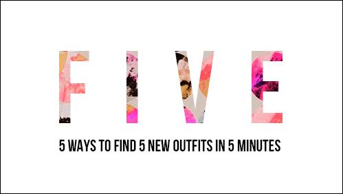 Nothing to wear? Use this easy (& free!) online mini course to find 5 new outfits in 5 minutes.