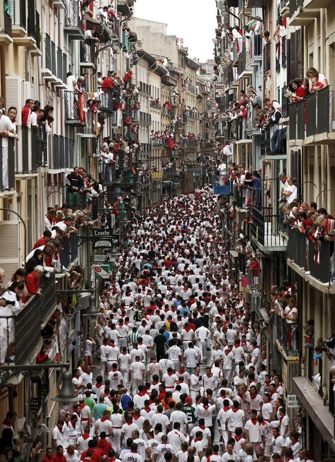 Running of the bulls Pamplona Spain-                    Honeymoon : )