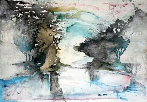 I cancelli della memoria -ecoline and ink on canvas - cm 80 x 120