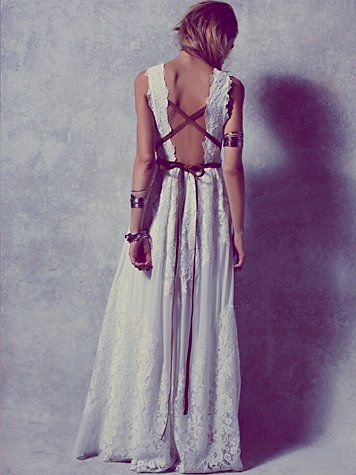 I'm not typically a girl who pins wedding stuff, but this free people dress is a dream wedding dress. Am I right?