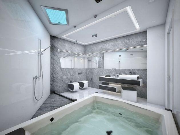 Die besten 25+ Badewannen \ whirlpools Ideen auf Pinterest - luxus badezimmer wei mit sauna