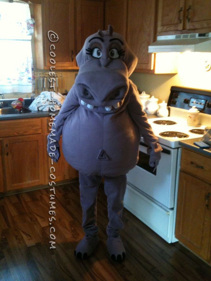 Coolest Homemade Gloria the Hippo Costume... This website is the Pinterest of costumes