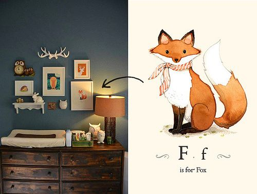 Woodland themed nursery   Flickr - Photo Sharing! Afsaneh Tajvidi. She is deft.