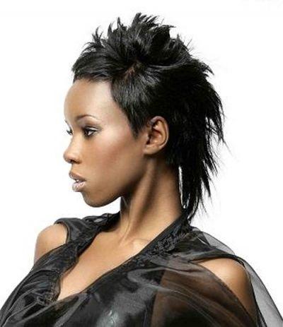 Faux Hawk Pixie Style For African American Women