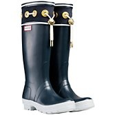 Hunter Thurlestone Nautical Wellington Knee High Boots, Navy