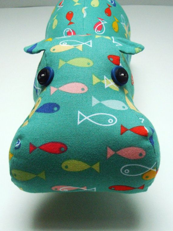 Fish Hippo by KittyKittyCrafts on Etsy, $45.00