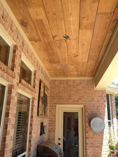 Reclaimed Wood Ceiling Tutorial Crafty Texas Girls