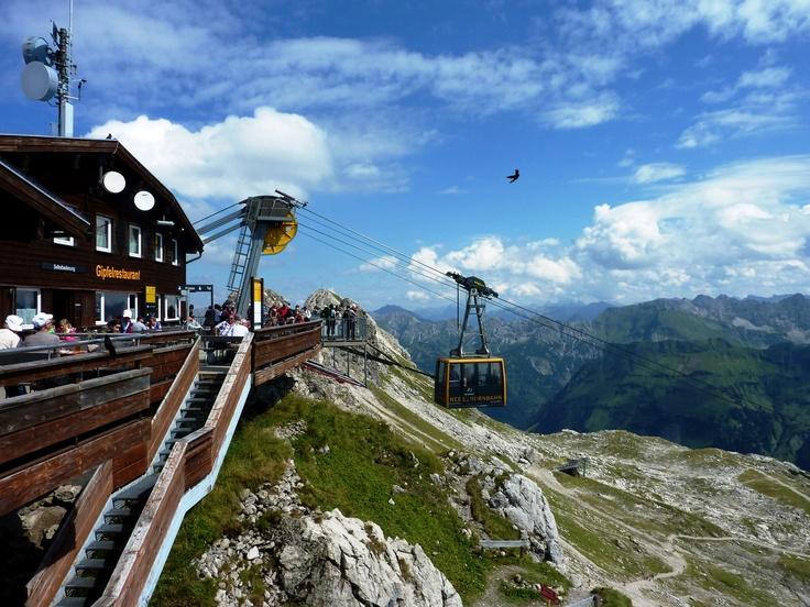 Die Gipfelstation der Nebelhornbahn in Oberstdorf.