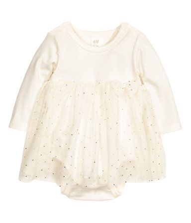 Tulle Dress with Bodysuit | Natural white | Kids | H&M US