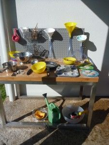 mud pie kitchen / water wall - Gin, wouldn't this have been perfect for you and Jamie back in the day??