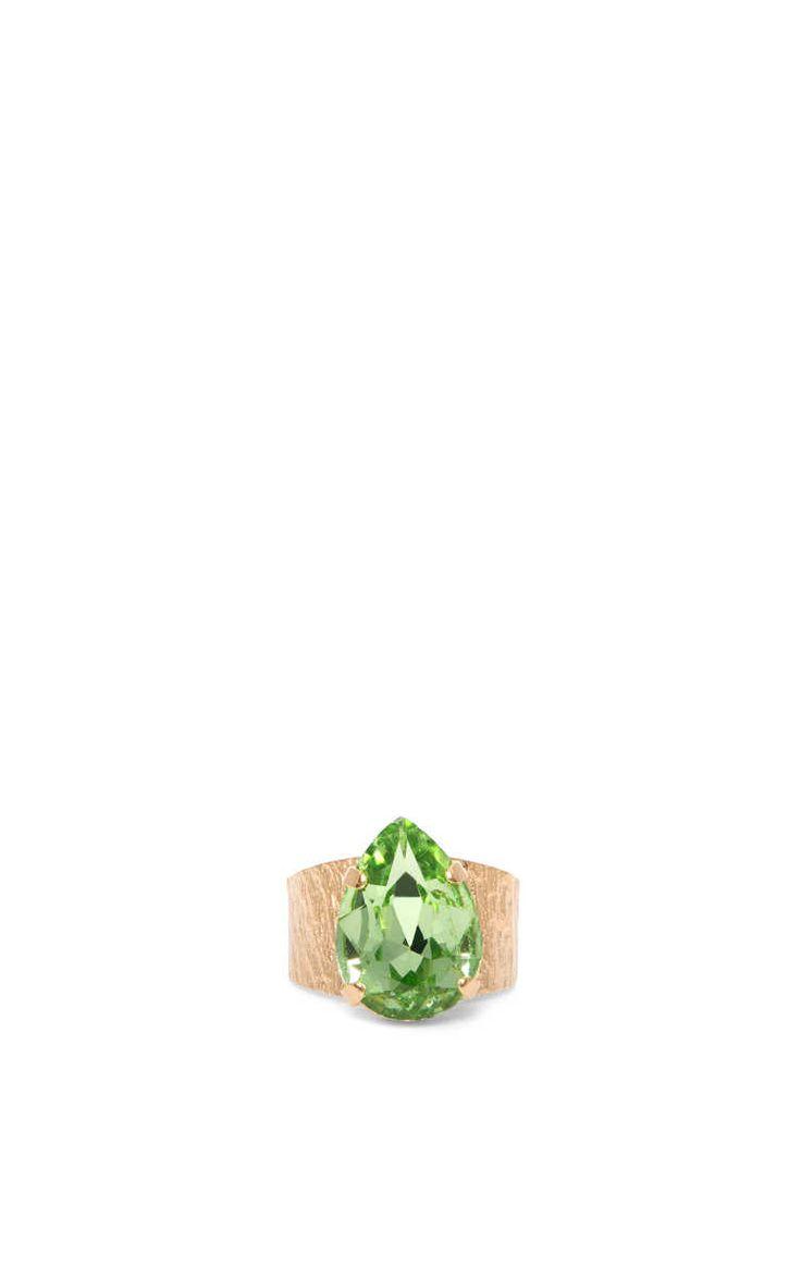 Ring Classic Drop CHRYSOLITE - Caroline Svedbom - Designers - Raglady