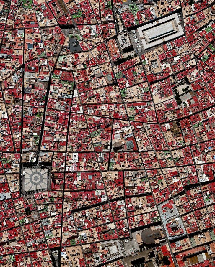 The old town of Cádiz, Spain, seen from above City