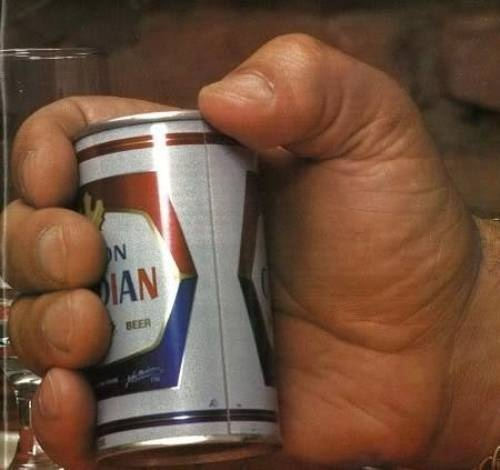 Andre The Giant Holding A Beer...36 yrs. ago was in Pensacola @ wrestling match in gym...turned around ans saw him...he was sweetest and gentlest being!