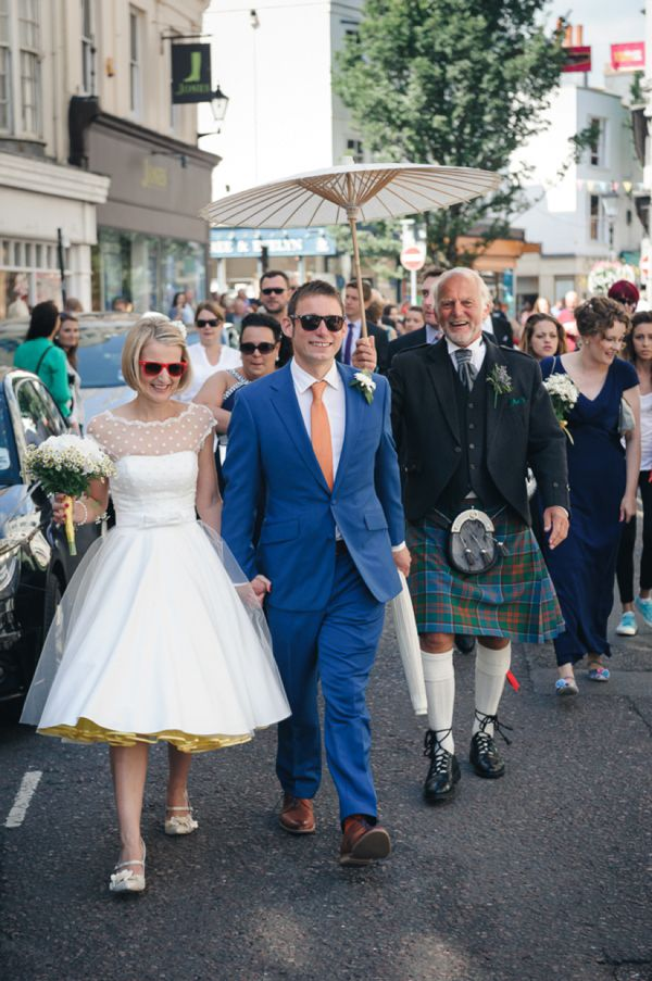 Polka Dots, Daisies and a Yellow Petticoat: A Candy Anthony Dress for a Seaside Wedding | Love My Dress® UK Wedding Blog