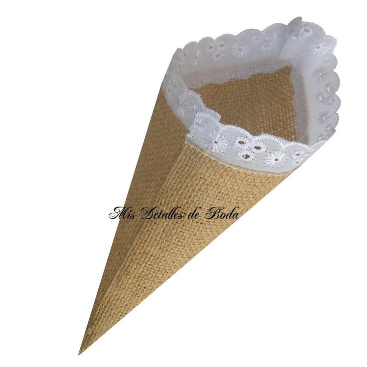confetti cones, petals cone, cono para arroz, cono para confetti, cono para pétalos, cono para boda, cono de yute, cono elegante, cono original para boda