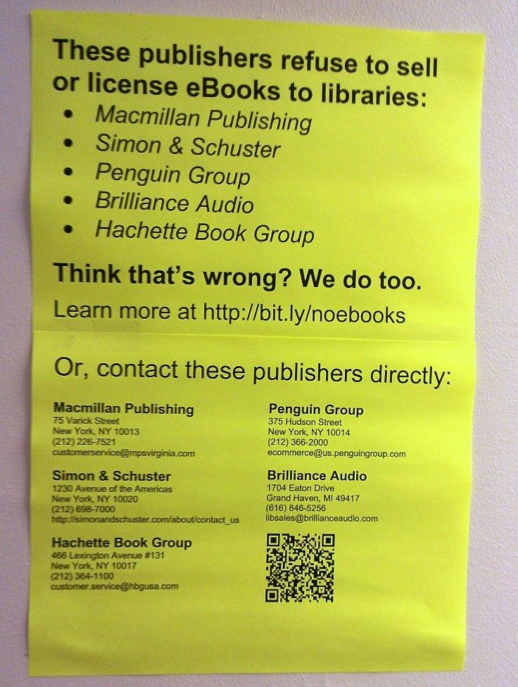 Speak out for eBooks in libraries