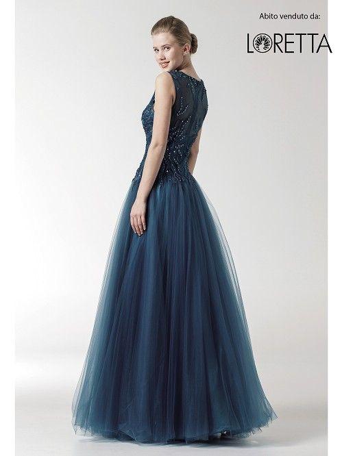 Collezione 2016 | Abito lungo da cerimonia blu notte con gonna gonfia #cerimonia #vestitolungo #dress #longdress