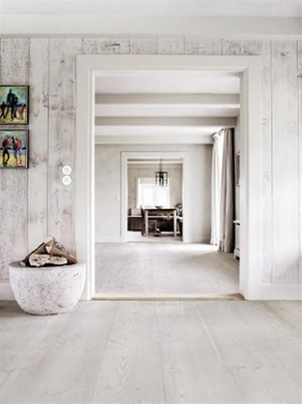Whitewashed Wood Walls