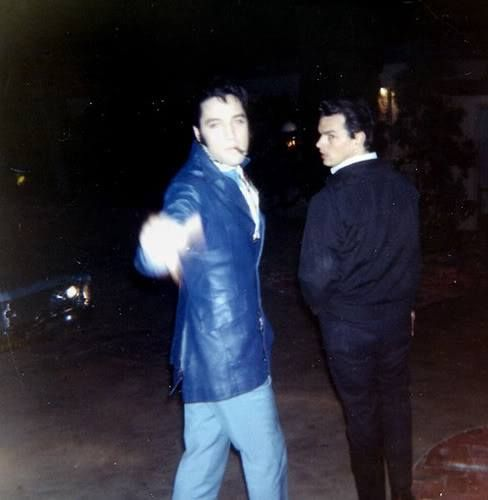 "Elvis & Marvin ""Gee Gee"" Gambill at 1174 Hillcrest Road, Beverly Hills, CA -  Wednesday, November 6, 1968 
