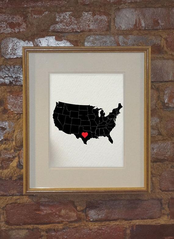 I Heart Texas I Heart Austin USA 8 x 10 by hunterandsmile on Etsy, $17.50