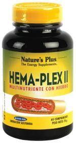 #NaturesPlus Hema-Plex II, 60 comprimidos #farmaciaonline #farmaconfianza #vitaminas #natural  #hierro