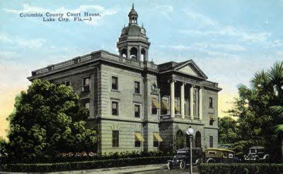 Columbia County Courthouse on the town square in downtown Lake City where Liz did some of her research. This is how the courthouse would have looked in 1930 during Meg, DeWitt, Jack, and Zeke's story.