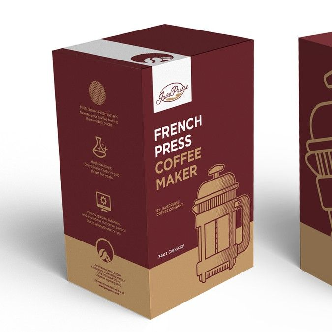 Create a Modern, Sleek, and Contemporary design for our new French Press Coffee Maker by BorkoNeric