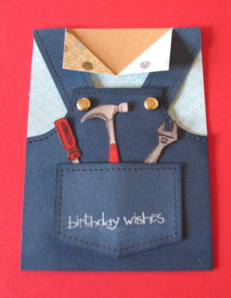 Tool Man Birthday Card Tutorial / Debzhouse Stamping