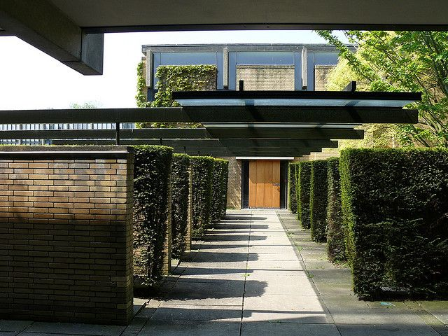 St. Catherine's College, Oxford designed by Arne Jacobsen.