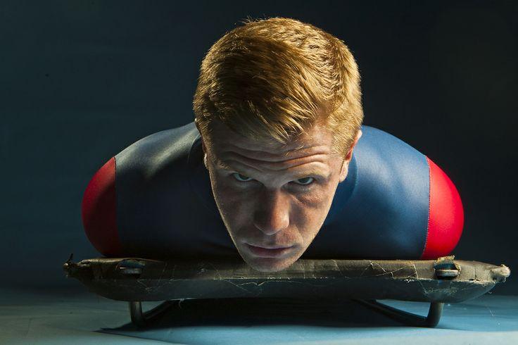 Skeleton athlete John Daly. (Chris Detrick  |  The Salt Lake Tribune)
