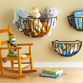 Planters for stuffed animals - Get Organized in 2013 - Kids Bedroom and Play Room Organization Tips and Ideas (photo from BHG.com)