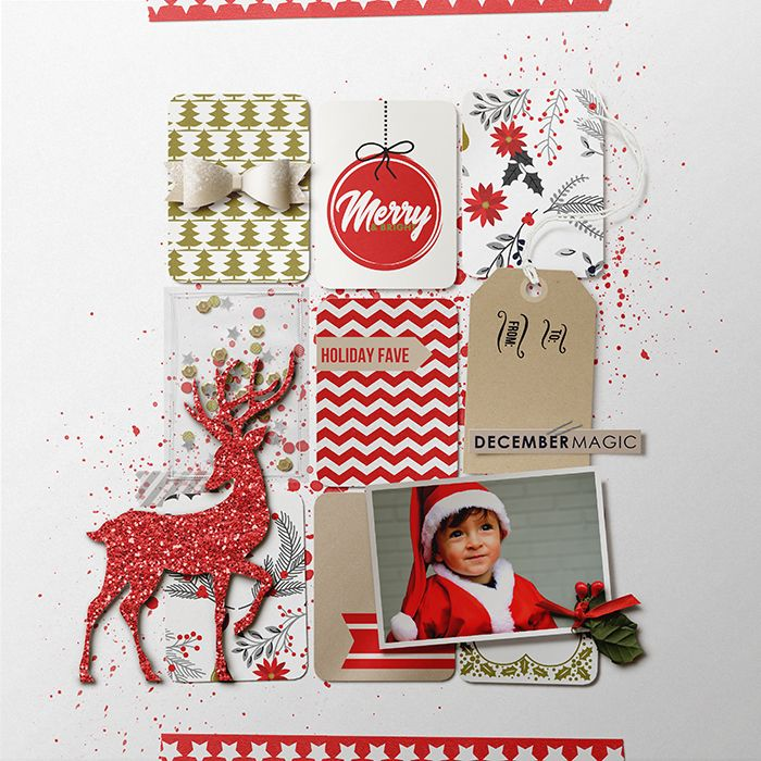 Christmas Project Life / December Daily / Document Your December pages using December collection by Sahlin Studio