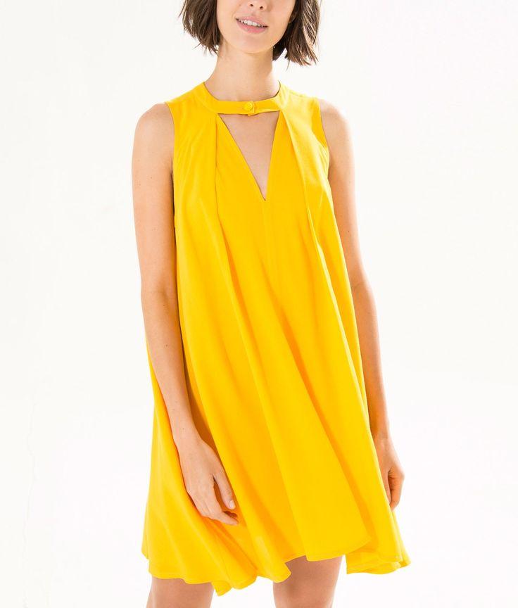 vestido túnica trapézio