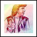 Portrait Of Justin Hayward 2 Framed Print by Joan-Violet Stretch