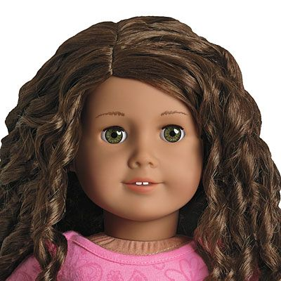 I just bought a used American girl doll Just Like You 44. Her hair is super frizzy, so I get to try and make her hair pretty again. I love a good challenge.