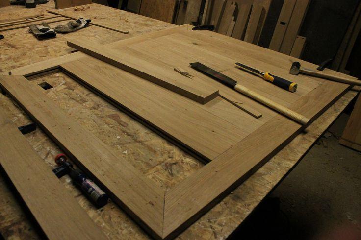 Woodworking Joints, Kitchen Table Chiseling, Połączenie stolarskie blatu do stołu kuchennego  www.drewnoikamien.pl