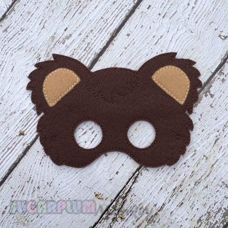 New to SugarPlumMonkey on Etsy: Bear Mask Woodland Mask Children's Felt Bear Mask