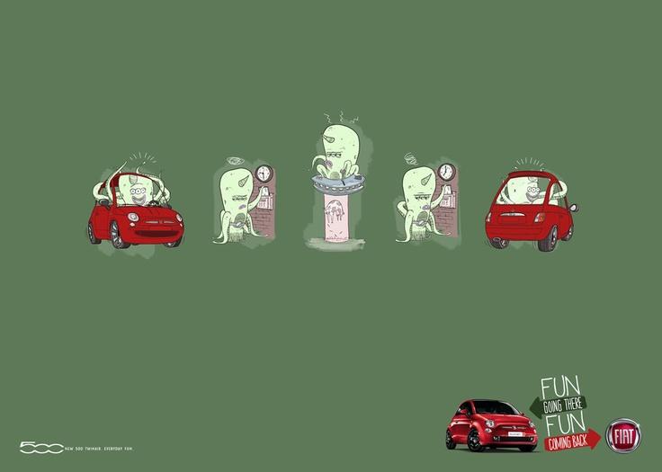 Fiat 500 Routine » Alien