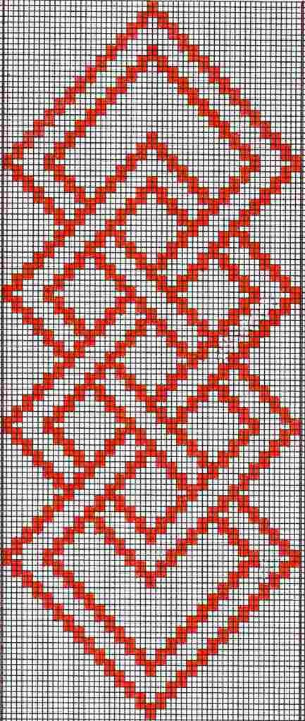 mexican+weaving+patterns   placemat ''knot'' design