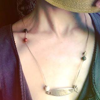Summer fish-necklace.   .  .  .  #jamjar_gr #jewelrygram #jamjar #greekjewelry #madeingreece #handmadejewelry #handmade #summer #summeringreece #summerfashion #fish #fishnecklace
