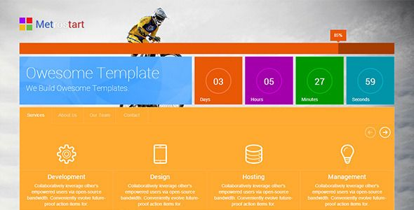MetroStart - Responsive Coming Soon Template - Under Construction Specialty Pages