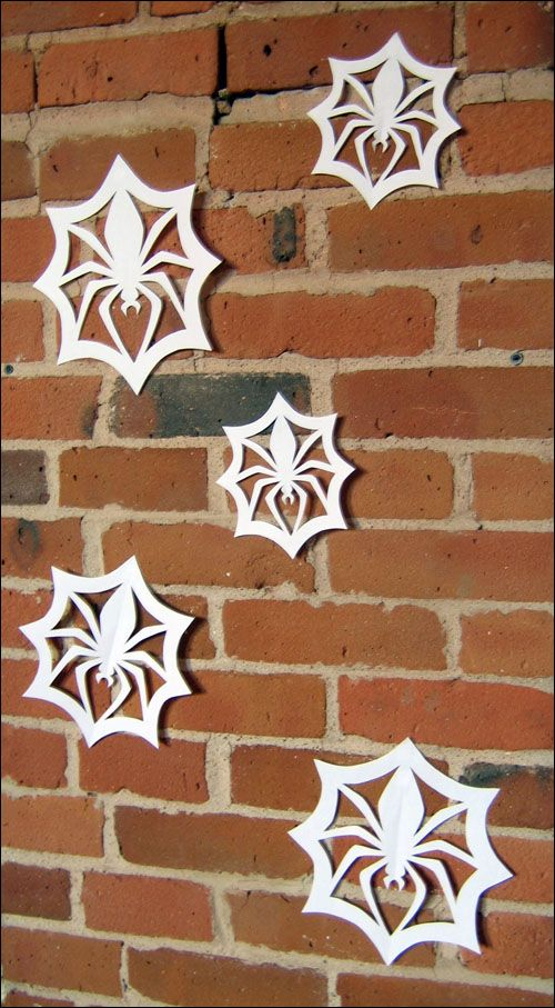 spider web snowflakes template