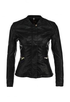 Куртка кожаная People, цвет: черный. Артикул: PE004EWEGK71